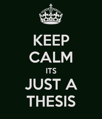 Work schedule for phd thesis
